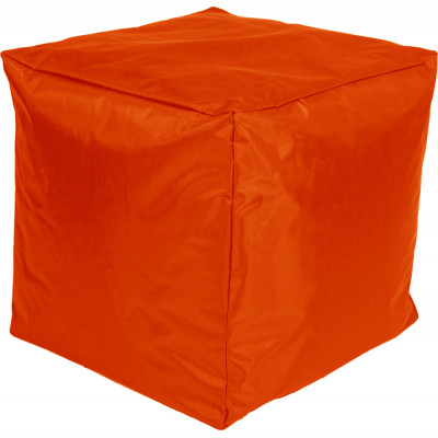Poef Kubus Nylon 45x45x45 Oranje