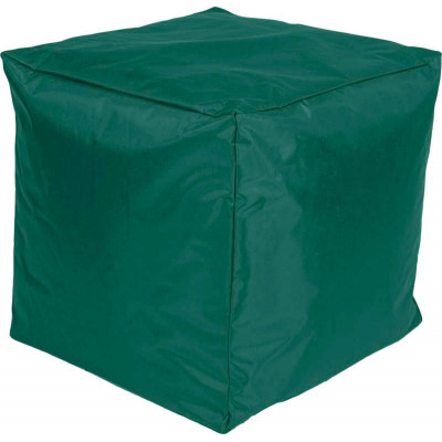 Poef Kubus Nylon 45x45x45 Smaragdgroen