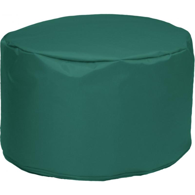 Poef Rond Nylon 60x35 Smaragdgroen